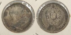 World Coins - AUSTRIA: 1862-A 1/4 Florin