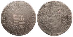 World Coins - GERMAN STATES Mansfeld-Schraplau Gebhard VII, Johann-Georg I., Peter-Ernst I ND (1547-1558) Thaler (Taler) Nice VF