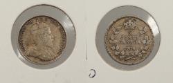 World Coins - CANADA: 1908 Small '8' 5 Cents