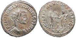 Ancient Coins - Maximianus First Reign: 286-305 A.D. Antoninianus Antioch Mint Near EF