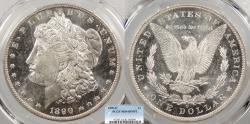 Us Coins - 1890 O Morgan 1 Dollar (Silver) PCGS MS-64 DMPL