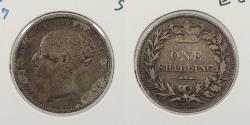 World Coins - GREAT BRITAIN: 1881 Shilling