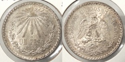 World Coins - MEXICO: 1924-M Peso