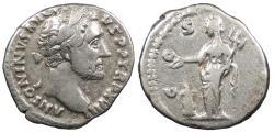 Ancient Coins - Antoninus Pius 138-161 A.D. Denarius Rome Mint VF