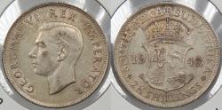 World Coins - SOUTH AFRICA: 1942 2 1/2 Schilling (Halfcrown)