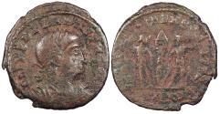Ancient Coins - Delmatius, as Caesar 335-337 A.D. AE4 Cyzicus Mint Good Fine