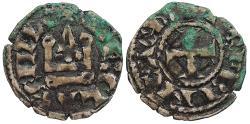 World Coins - CRUSADERS Frankish Greece: Principality of Achaia  Charles II de Anjou 1285-1289 Denier   VF