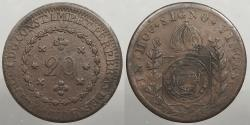 World Coins - BRAZIL: 1830-R 20 Reis