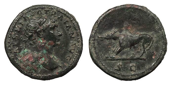 Ancient Coins - Trajan 98-117 A.D. Quadrans Rome Mint Good VF