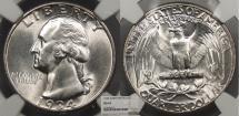 Us Coins - 1934 Washington 25 Cents (Quarter) Light Motto NGC MS-64