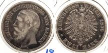 World Coins - GERMAN STATES: Baden 1876-G 2 Mark