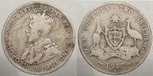 World Coins - AUSTRALIA: 1917-M Florin