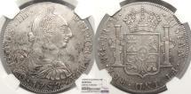 World Coins - GUATEMALA Charles III 1787-NG M 8 Reales NGC AU