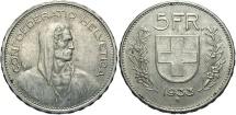 World Coins - SWITZERLAND: 1933 B 5 Francs
