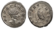 Ancient Coins - Claudius II Gothicus 268-270 A.D. Antoninianus Uncertain Mint Near EF
