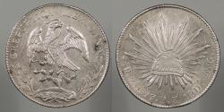 World Coins - MEXICO: 1897-Zs FZ 8 Reales