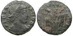 Ancient Coins - Delmatius, as Caesar 335-337 A.D. AE4 Siscia Mint Near VF