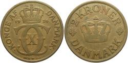 World Coins - DENMARK: 1924 2 Kroner