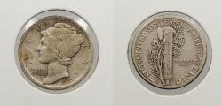 Us Coins - 1917 D Mercury 10 Cents (Dime)