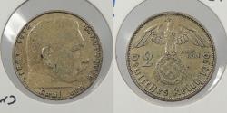 World Coins - GERMANY: 1939-A Hindenburg. 2 Mark