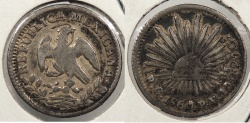World Coins - MEXICO: Culiacan 1860/59-C PV 1/2 Real