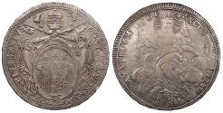 World Coins - ITALIAN STATES Papal States Pius VI 1780 Scudo EF