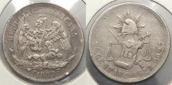 World Coins - MEXICO: 1889-Zs Z 25 Centavos