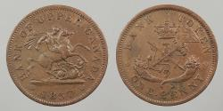 World Coins - CANADA: Upper Canada 1857 Penny Token