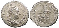 Ancient Coins - Elagabalus 218-222 A.D. Denarius Rome Mint Good VF