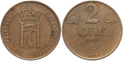 World Coins - NORWAY: 1922 2 Ore
