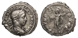 Ancient Coins - Severus Alexander 222-235 A.D. Denarius Rome Mint Good VF