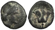 Ancient Coins - Islands off Caria Rhodes Rhodos c. 400-350 B.C. AE11 Good Fine