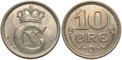 World Coins - DENMARK: 1921 10 Ore