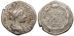 Ancient Coins - Lucilla, wife of Lucius Verus 164-169 A.D. Denarius Rome Mint VF