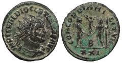 Ancient Coins - Diocletian 284-305 A.D. Antoninianus Siscia Mint Good VF