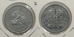 World Coins - BOLIVIA: 1942 1 Yr. type 20 Centavos