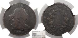 Us Coins - 1802/0 Draped Bust 1/2 Cent C-2 NGC VG