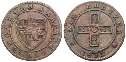 World Coins - SWISS CANTONS: Aargau 1831 2 1/2 Rappen