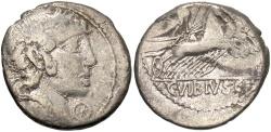 Ancient Coins - C. Vibius C.f. Pansa 90 B.C. Denarius Rome mint.