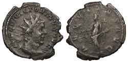 Ancient Coins - Victorinus 268-270 A.D. Antoninianus Uncertain mint Near VF Includes old collector's ticket.
