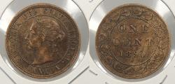 World Coins - CANADA: 1890-H Victoria Cent