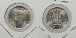 World Coins - AUSTRALIA: 1943-D Threepence
