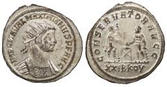 Ancient Coins - Maximianus 286-305 A.D. Antoninianus Siscia Mint EF