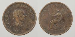 World Coins - GREAT BRITAIN: 1806 Halfpenny
