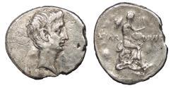 Ancient Coins - Octavian 27 B.C. - 14 A.D. Fourée Denarius Imitating uncertain Italian (or Rome) mint Good VF