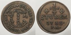World Coins - GERMAN STATES: Julich-Berg 1783-PM 1/4 Stuber