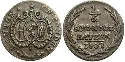 World Coins - SWISS CANTONS: Graubunden 1807 1/6 Batzen