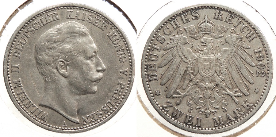 World Coins - GERMAN STATES: Prussia 1902-A 2 Mark