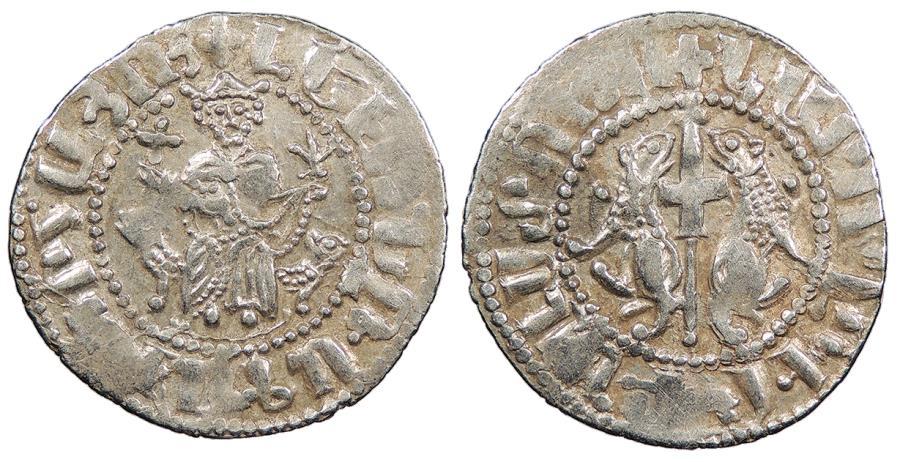 World Coins - ARMENIA   Levon I, as King 1198-1219 Tram   Near EF