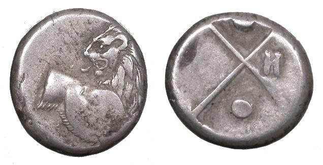 Ancient Coins - Thrace Chersonesos 400-350 B.C. Hemidrachm VF
